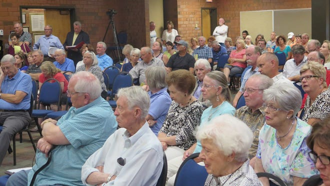 A standing-room-only crowd turned out Thursday to oppose a proposed short-term rental development in the Tonaquint area. The St. George City Council voted to deny the project.