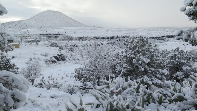 Snow covers the Washington County landscape around Veyo on Dec. 25, 2016, after one of several storms that have hit the area in the past month, raising hopes of a good spring runoff and abundant water supplies for the desert region.