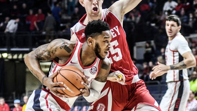 Markel Crawford scored 11 of his 16 points in the second half of Ole Miss' 82-59 win over Bradley Friday night.