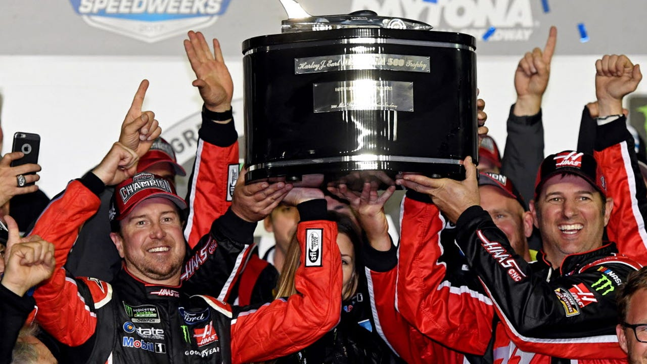 (From left to right) Stewart-Haas Racing co-owners