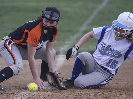 Palmyra's Rebecca Randall, left, is a standout hitter