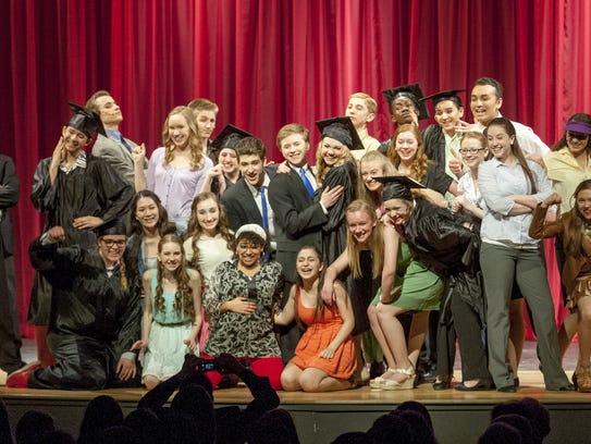 The entire cast of Ithaca High School's 2014 production