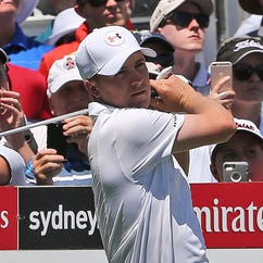 Jordan Spieth shot 71 in the opening round of the Australia