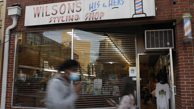 Wilson's His & Hers Styling Shop on historic Hot Corner in downtown Athens on Saturday, Nov. 14, 2020. The western downtown Athens area is on this year's Places in Peril list compiled by Historic Athens.