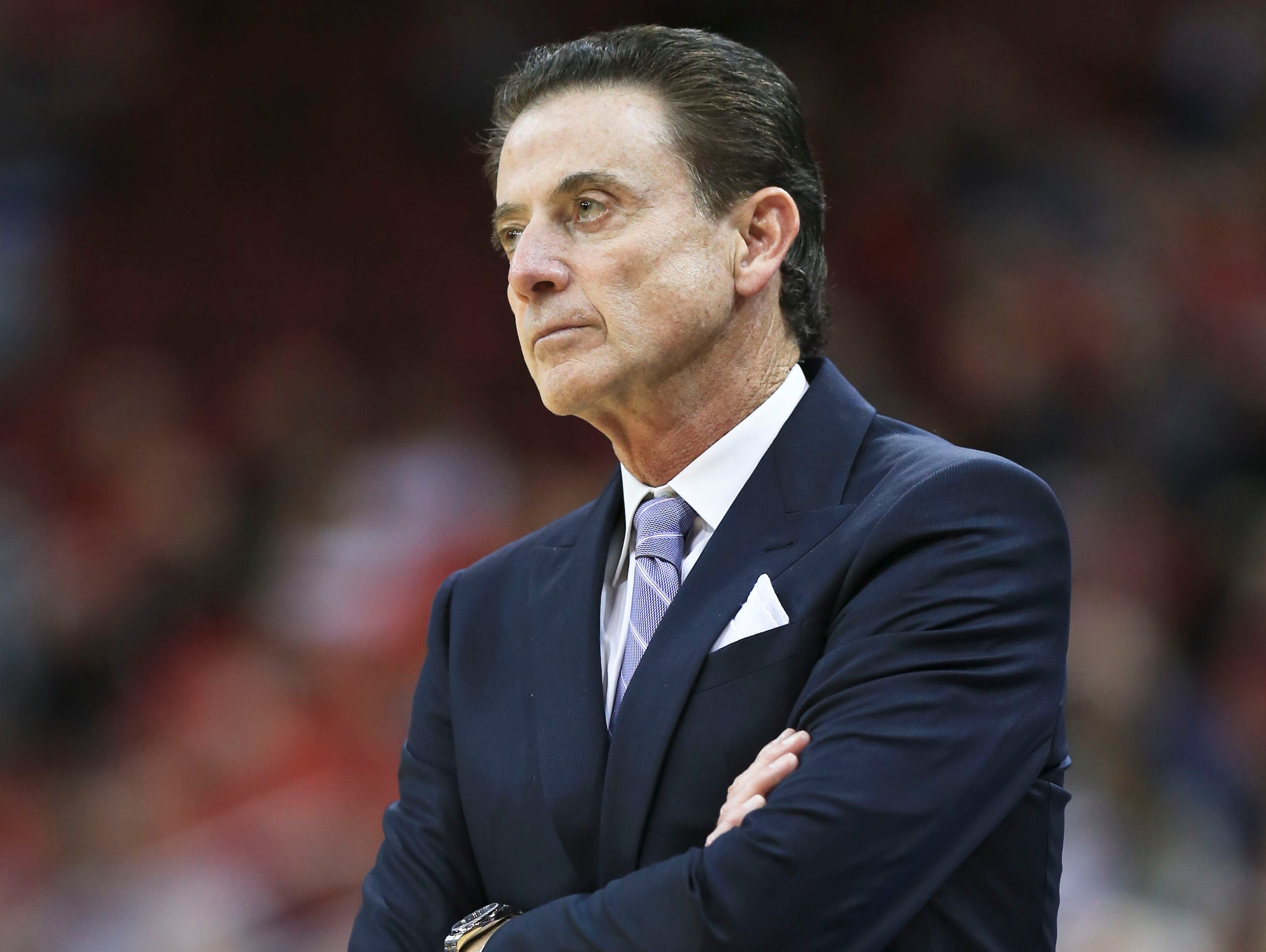 Rick Pitino coaching during a game against Long Beach State in November 2016.