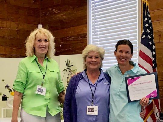 Garden Club President Janie Zezeck and VP of Programs