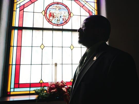 Pastor Charles Bates, of Fishersville United Methodist