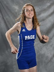 All-Midstate cross country Gigi Maddox, Page Thursday Nov. 16, 2017, in Nashville, TN