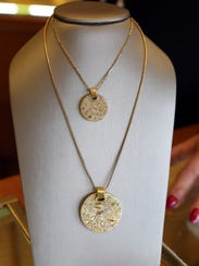 Diamonds embedded in medallions created by Varda Singer,