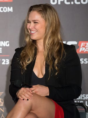 Ronda Rousey at a Q&A session in Macau this week.