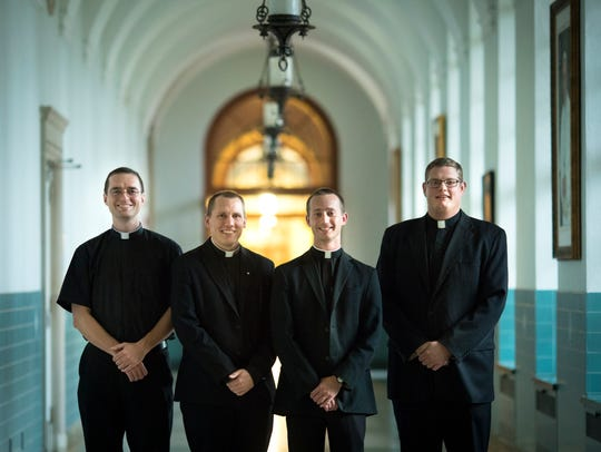 Wed., Nov. 15, 2017: Seminarians (from left:) Andrew