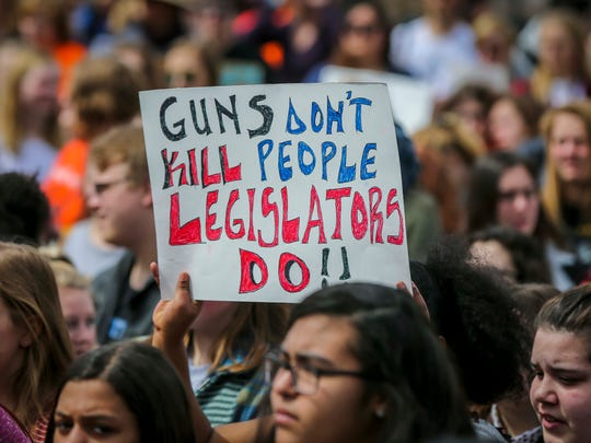 Hundreds of Iowa students listen to speakers at the