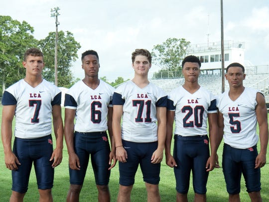 Lafayette Christian's offensive lineup includes (from