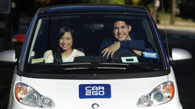 Lyndon Orinion, of Washington, had  just gotten his driver's license when this file photo was taken last summer. His girlfriend, Kaye Saliente, helped him learn to drive.