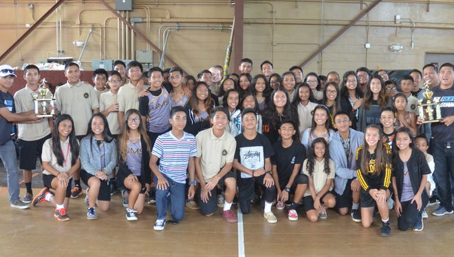 The Untalan Middle School Wildcats were presented with championship trophies for their wins in both the girls' and boys' Guam Interscholastic Sports Association Track and Field leagues during a ceremony at the school's gym on Friday, June 5, 2015. The Wildcats won eight total championships during the 2014-2015 school year, including all six girls' leagues, and were named the GISA overall champion.