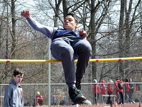 Suffern senior Nathan Emanuel competes in the high