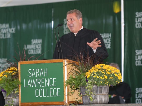 City of Yonkers mayor Mike Spano speaks during the inauguration ceremony for incoming president Cristle Collins Judd at Sarah Lawrence College in Yonkers on Friday, October 6, 2017.
