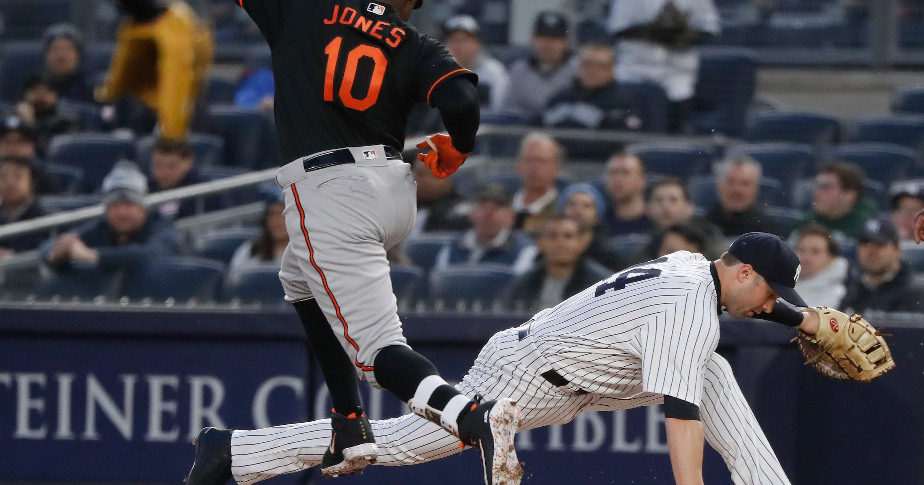208e4ad7c5a Pedro Alvarez s grand slam lifts Orioles over depleted Yankees in 14 innings