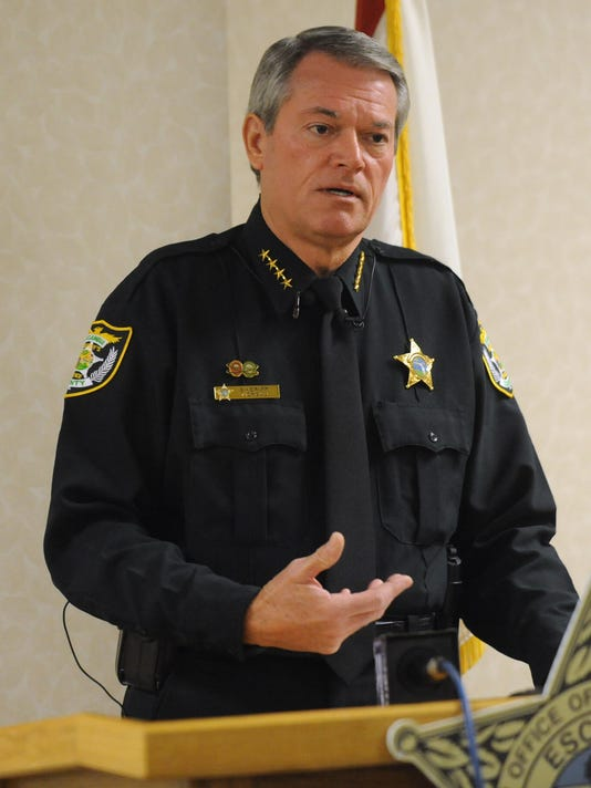 Escambia Sheriff Morgan press conference on Chemstrand Road stabbing