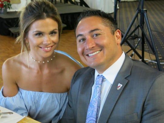 Megan Ellis and Caddo Commissioner Mario Chavez at