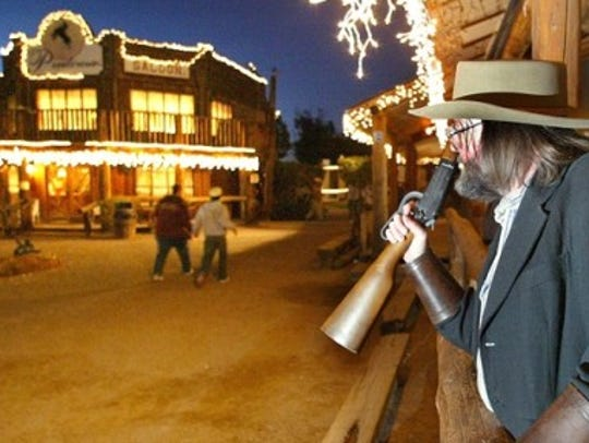 Rockin' R Ranch in Mesa let visitors become pioneers at a replica of an 1880s Western town with live music, panning for gold and gunfight shows.