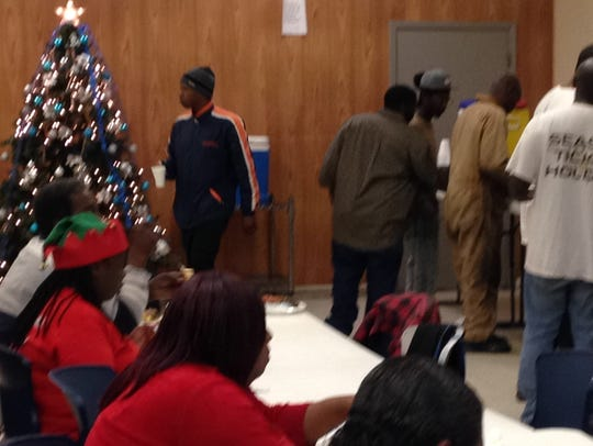 Dozens were given a free Christmas meal at Friendship