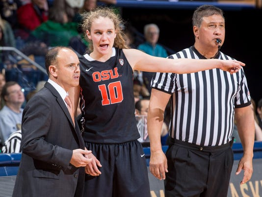 NCAA Womens Basketball: Oregon State at Notre Dame