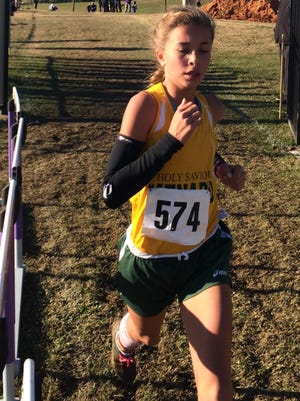 Menard's Claire Vaughn qualified for the LHSAA state meet in the 800, 1,600 and 3,200 meters while helping lead the Lady Eagles to the Region 1-2A title Thursday.