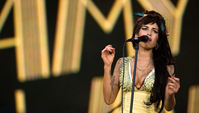 Amy Winehouse performs in 2008 in Arganda del Rey, on the outskirts of Madrid.