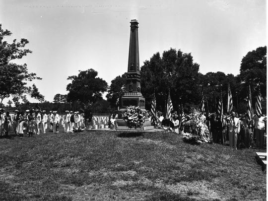 An historic Memorial Day observance is seen in  this undated photo at Barrancas National Cemetery.