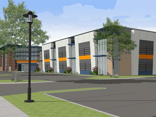 A rendering of what Visions Federal Credit Union headquarters will look like after construction and renovation.