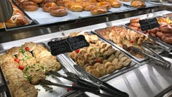 Some of the prepared foods offered for sale at the