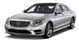The exotics program also extends to luxury sedans: A Mercedes-Benz S500 is for rent.