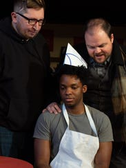 From left, Mike Marsalisi plays Kevin Magee, Emmanuel