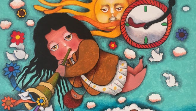 A new painting by Francisco Romero. He'll speak about his work and art during a reception Oct. 29.