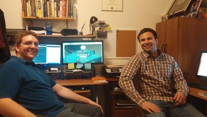 IgnoreU cofounders Brandon Dewey and Carmelo Mannino.