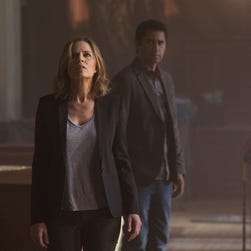 Kim Dickens, left, plays Miranda and Cliff Curtis plays Sean in the yet-to-be-named 'Walking Dead' companion series.