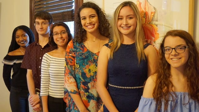 Jessica Vance (from left), Diego Diaz, Katlyn Perez, Allison Dibble, Carolina Munoz and Lucky Silverman will spend two weeks abroad as part of the Corpus Christi Sister City Student Exchange Program.