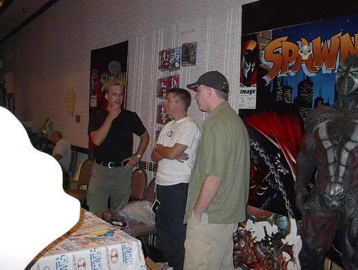 Todd McFarlane attends Phoenix Comicon in 2002.