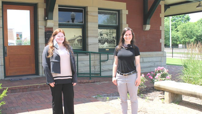 Summer intern Amelia Earl and Jenifer Blouin Policelli, director of Sturgis Historical Museum At The Depot, are ready to welcome visitors this weekend.
