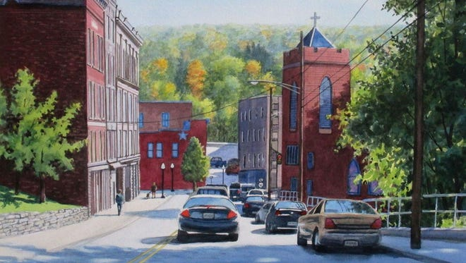 """Richard Price's painting """"Susquehanna Blues"""" is among the Broome County Arts Council's Windsor Whip Works Member Show."""