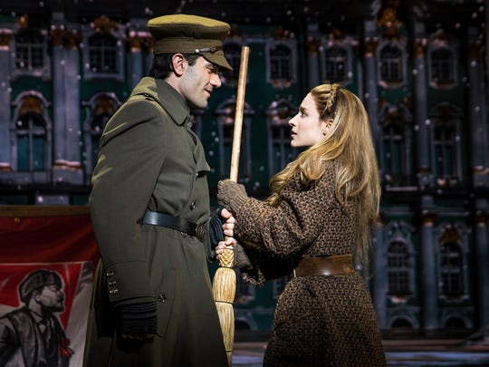 Ramin Karimloo and Christy Altomare perform in Anastasia.