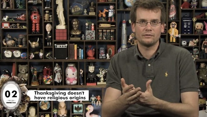 YouTube educator John Green unveils 25 little known facts about Thanksgiving.