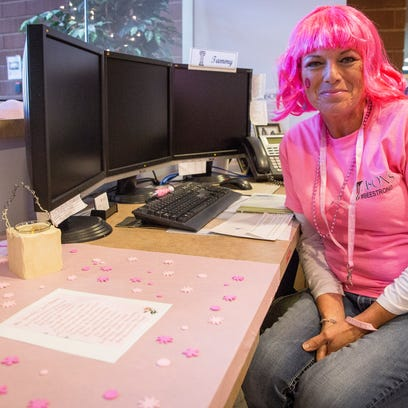 Tammy Hyre, an ASONS employee, works the front desk