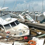 Damage after Hurricane Katrina in New Orleans.