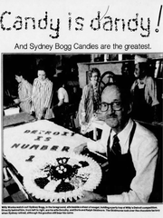 Sydney Bogg is pictured, with his wife and employees in the background, in this photo published Oct. 15, 1978 in the Detroit Free Press.