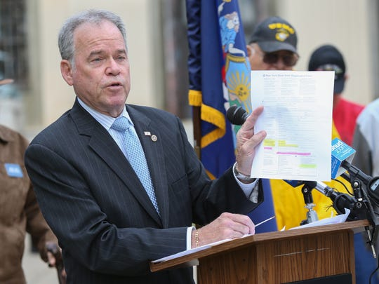 Rockland County Executive Ed Day holds a press conference
