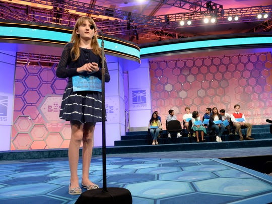 Sylvie Lamontagne misspells cerastes in round 7 of the championship finals of the 2015 Scripps National Spelling Bee.