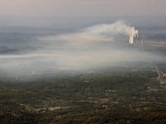 The Mill Creek power generating station in 2007, before major investments in new air pollution controls. October 4, 2007