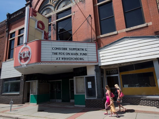 The Fox on Main, formerly the Fox Theater, located in downtown Stevens Point, Wednesday, July 6, 2016.